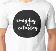 Caturday   Hand Lettered II Unisex T-Shirt