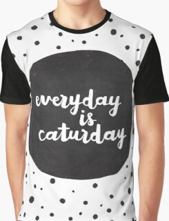 Caturday | Hand Lettered II Graphic T-Shirt