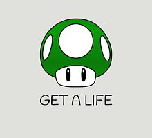 Get a Life Mushroom (Black Text) Unisex T-Shirt