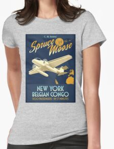 Fly the Spruce Moose Womens Fitted T-Shirt