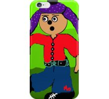 dancing boy with purple hat iPhone Case/Skin