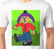 dancing boy with purple hat Unisex T-Shirt