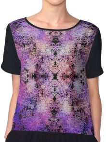 space flower Chiffon Top