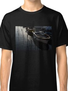 Charming Old Wooden Boats in the Harbor Classic T-Shirt