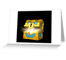 Gold Chest Art Greeting Card