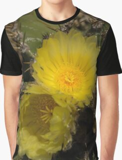Gossamer Petals - Twin Cactus Blooms Graphic T-Shirt