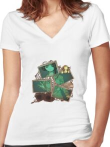 Serial Experiments Lain Women's Fitted V-Neck T-Shirt