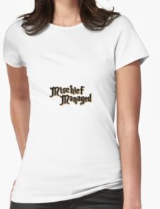Mischief Managed Womens Fitted T-Shirt