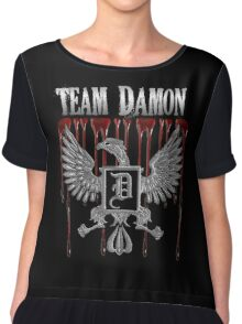 Team Damon Blood Crest Chiffon Top