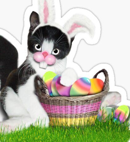 Cute Easter Kitty Sticker