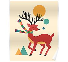 Deer Autumn Poster