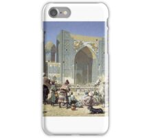 An orientalist nineteenth century Russian view of Samarkand in the time of Timur. Oil on canvas, Vasily Vereshchagin iPhone Case/Skin