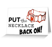 GoT - Red Woman Necklace Greeting Card
