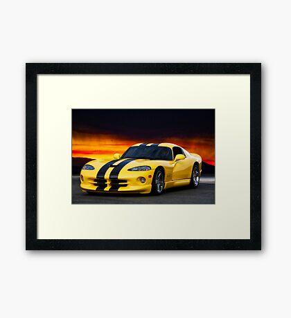 Dodge Competition Viper Framed Print