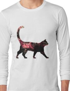 Abstract Cat Long Sleeve T-Shirt