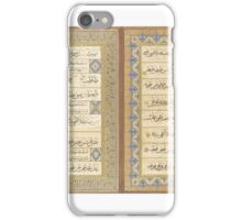 AN OTTOMAN CALLIGRAPHIC ALBUM SIGNED KEBECIZADE MEHMED  iPhone Case/Skin