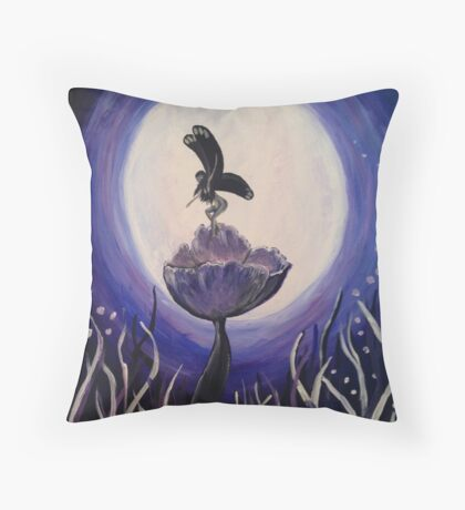 Midnight Fae Throw Pillow