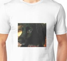 Hündin als öl gemälde Unisex T-Shirt