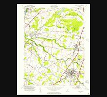 USGS TOPO Map New Jersey NJ Hightstown 254467 1954 24000 Unisex T-Shirt