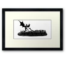 Helgen Was An Inside Job Framed Print