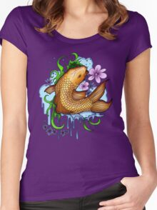 Koi Fish Women's Fitted Scoop T-Shirt