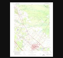 USGS TOPO Map New Jersey NJ Hammonton 254451 1966 24000 Unisex T-Shirt
