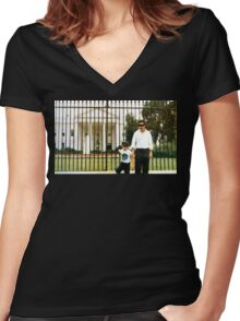 White House Pablo Women's Fitted V-Neck T-Shirt