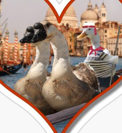 Romantic Gondola Ride Sticker