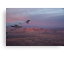 Flying Over the Mojave Desert at Sunrise Canvas Print