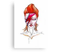David Bowie Aladdin Sane Pin up Canvas Print