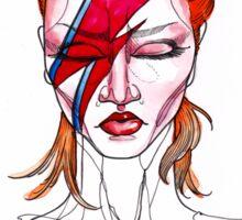 David Bowie Aladdin Sane Pin up Sticker