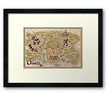 Unova Map Framed Print