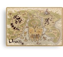 Unova Map Metal Print