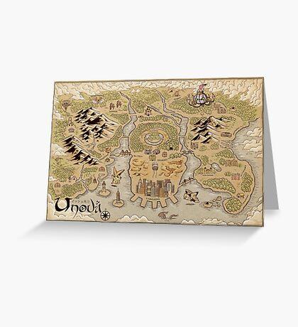Unova Map Greeting Card