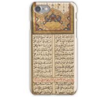 anthology of poetry, Turkey, Ottoman, 17th century iPhone Case/Skin
