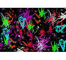 Graffiti Paint Splatter Photographic Print