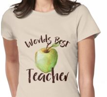 World's Best Teacher  Womens Fitted T-Shirt