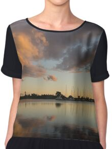 Boats and Clouds Summer Sunset Chiffon Top
