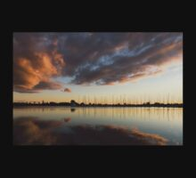 Boats and Clouds Summer Sunset Kids Tee