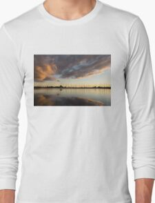 Boats and Clouds Summer Sunset Long Sleeve T-Shirt