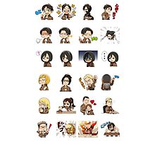 Kawaii Chibi Attack on Titan Photographic Print