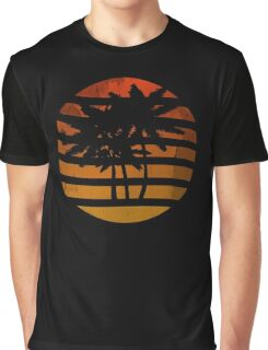 Palm Trees Grunge Sunset Graphic T-Shirt