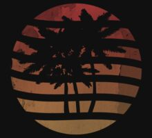 Palm Trees Grunge Sunset by ddtk
