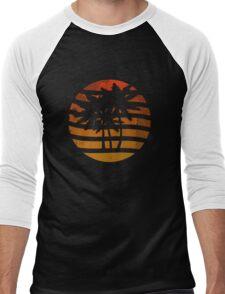 Palm Trees Grunge Sunset Men's Baseball ¾ T-Shirt