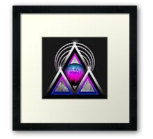 "Retro 80's Synthwave / New Retro Wave: Neon Nights (Without ""SynthWave"" Logo) Framed Print"