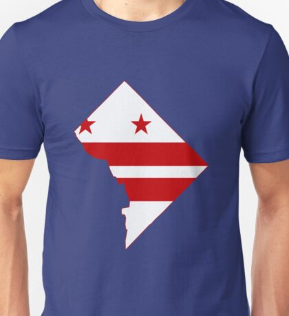 Washington DC Flag Map Unisex T-Shirt