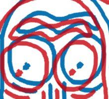 3d rick Sticker