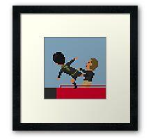 Kung Fu Kick Framed Print