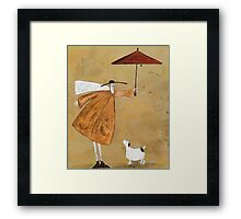 Acknowledge The Puppy   Framed Print