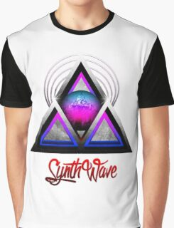 """Retro 80's Synthwave / New Retro Wave: Neon Nights (With """"SynthWave"""" logo) Graphic T-Shirt"""